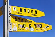 New Zealand, Northland, Cape Reinga, Sign Post - GW002674