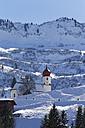 Austria, Vorarlberg, Bregenz Forest, St. Nicholas Church in winter - SIEF005216