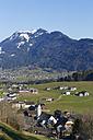 Austria, Vorarlberg, Bregenz Forest, Schwarzenberg with mountain Niedere - SIEF005229