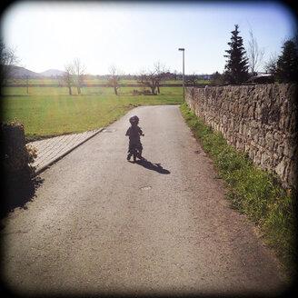 Germany, Baden-Wuerrtemberg, little girl with impeller - LVF000945