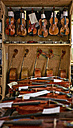 Violins to be repaired in a violin maker's workshop - DIKF000113