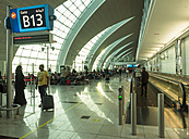 UAE, Dubai, departure lounge at airport - DIS000703