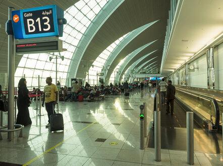 UAE, Dubai, departure lounge at airport - DIS000703