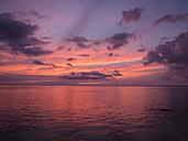 Mauritius, La Preneuse, sundown at Indian Ocean - DISF000700