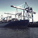 Container port, Hamburg, Burchardkai, Norder Elbe, Hamburg, Germany - SE000645