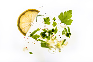 Salat with lemon dressing, herbs, spring onions, olive oil, pepper and parsley - CSTF000207