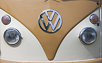 Germany, Hesse, Muehlheim, Volkswagen Transporter T1 at vintage car rally, partial view - JWA000035