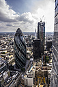 United Kingdom, England, London, The Gherkin and cityscape - THA000196