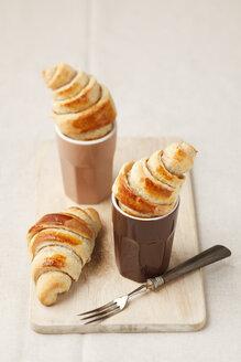 Homemade mini croissants, studio shot - ECF000491