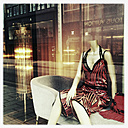 Shop window of a Hamburg fashion business in the city of Hamburg, Hamburg, Germany - MS003702