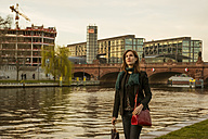 Germany, Berlin, female tourist on the move near central station - FBF000312