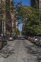 USA, New York State, New York City, Manhattan, residential street at Upper West Side - NKF000087