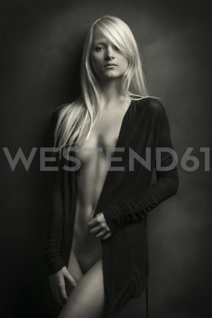 Semi-nude young woman standing - CvK000067