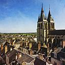 France, Centre, Loir-et-Cher, Blois, Cityscape and Saint Nicolas Church - DWIF000031