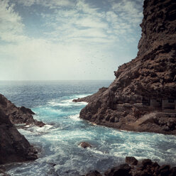 Spain, Canary Islands, La Palma, Poris de Candelaria, Coast - DWIF000041