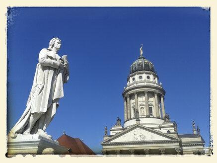 Gendarmenmarkt, French Cathedral, Schiller Monument, Friedrich Schiller, Germany, Berlin - BFR000381