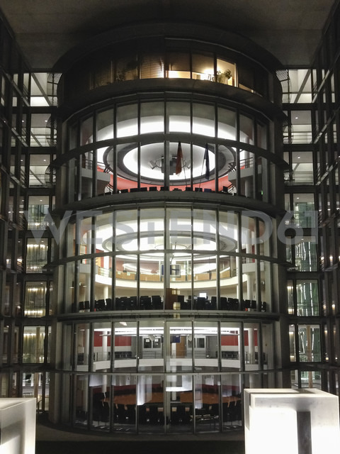 Germany, Berlin, Bundestag bureau by night - FB000335