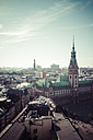 Germany, Hamburg, Cityscape from St. Petri church with town hall - KRP000419
