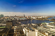 Germany, Hamburg, Cityscape from St. Petri church with Alster - KRP000425