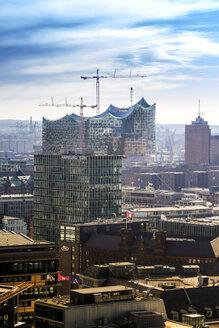 Germany, Hamburg, Cityscape from St. Petri church with Elbphilarmonie - KRP000427