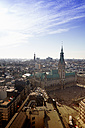 Germany, Hamburg, Cityscape from St. Petri church with St. Michaelis Church and town hall - KRP000429