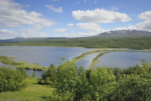 Sweden, Vilhelmina, River course in lake Kultsjoen - BR000476
