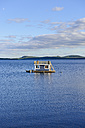 Sweden, Vilhelmina, Houseboat on lake Volgsjoen - BR000460