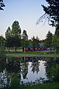 Sweden, Storuman, Holiday homes at a lake - BR000446
