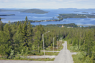Sweden, Storuman, View above lake with islands - BR000439