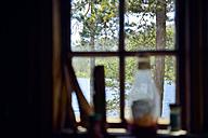 Sweden, Oernskoeldsvik, View through window in Skuleskogen National Park - BR000382