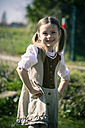 Portait of little girl posing in country style dress - SARF000468