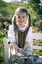 Portait of little girl wearing country style dress - SARF000467