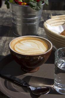 Germany, Bavaria, Landshut, Cappuccino - YFF000089