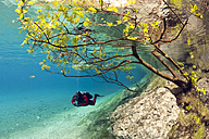 Austria, Styra, Tragoess, Green Lake, Diver - YRF000042