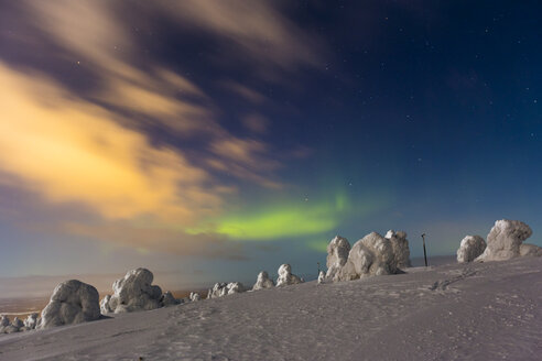 Scandinavia, Finland, Kittilae, Polar lights, Aurora borealis - SR000518