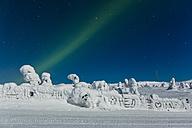 Scandinavia, Finland, Kittilae, Polar lights, Aurora borealis - SR000527