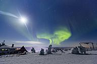 Scandinavia, Finland, Kittilae, Polar lights, Aurora borealis - SR000526