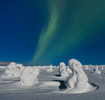 Scandinavia, Finland, Kittilae, Polar lights, Aurora borealis - SR000524