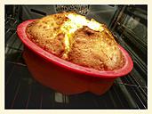 Sponge cake in the oven, baking pan, Studio - CSF021260