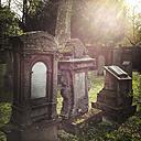 Germany, Baden-Wuerttemberg, Stuttgart, Hoppenlaufriedhof, Jewish cemetery, graves, grave stones, Judaism - WD002478