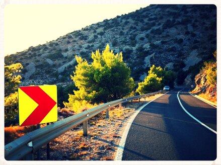 Coast road on the island of Brac, Croatia - EDF000060