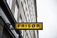Denmarkm Copenhagen, Sign Hairdresser - VI000257