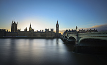 UK, London, Big Ben and Houses of Parliament at River Thames - STC000003