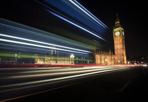 UK, London, Big Ben and Houses of Parliament, long time exposure - STCF000005