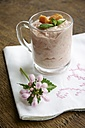 Rhubarb fool in glass - HAWF000112