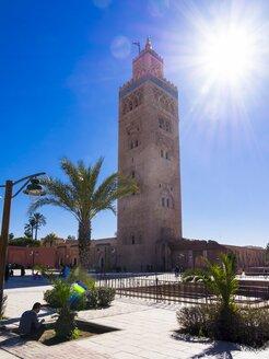 Morocco, Marrakesh-Tensift-El Haouz, Marrakesh, Koutoubia Mosque, Minaret - AM002189