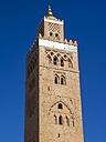 Morocco, Marrakesh-Tensift-El Haouz, Marrakesh, Koutoubia Mosque, Minaret - AMF002186