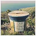 Painted water barrel, La Palma, Canary Islands, Spain - SE000664