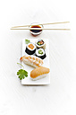 Variety of sushi on plate - KSWF001238