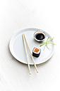 Salmon maki sushi on plate - KSWF001241